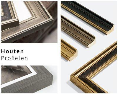 collage houten profielen