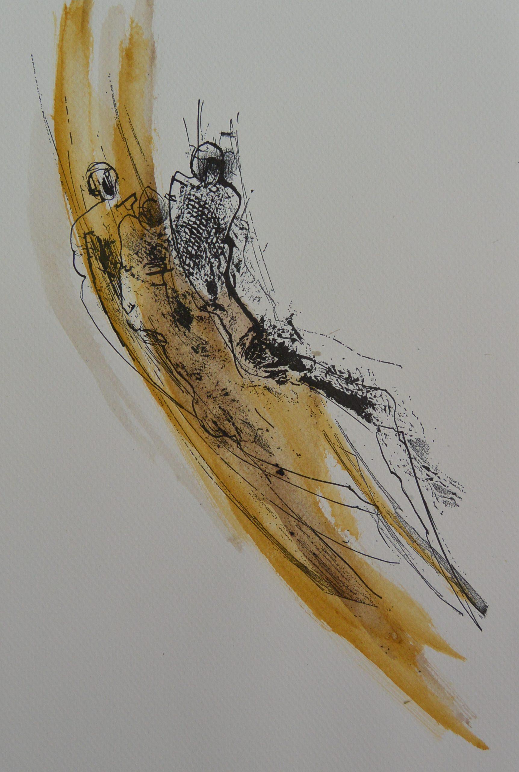 J.S-003 Jan Steen, figuren diagonaal geel